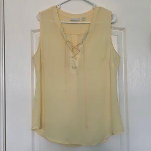 Yellow New York & Company blouse